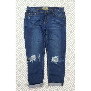 Dear John Distressed Straight Leg Jeans 29 X 29